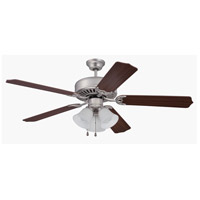 Craftmade Pro Builder 205 3 Light 52-inch Ceiling Fan (Blades Sold Separately) in Brushed Satin Nickel C205BN