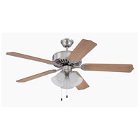 Craftmade Pro Builder 205 3 Light 52-inch Ceiling Fan (Blades Sold Separately) in Brushed Polished Nickel C205BNK