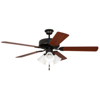 Craftmade Pro Builder 205 3 Light 52-inch Ceiling Fan (Blades Sold Separately) in Flat Black C205FB