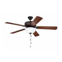 Craftmade Pro Builder 207 2 Light 52-inch Ceiling Fan (Blades Sold Separately) in Aged Bronze Brushed C207ABZ