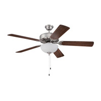 Craftmade Pro Builder 207 2 Light 52-inch Ceiling Fan (Blades Sold Separately) in Brushed Polished Nickel C207BNK