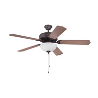 Craftmade Pro Builder 207 2 Light 52-inch Ceiling Fan (Blades Sold Separately) in Oiled Bronze C207OB