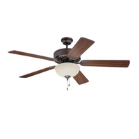 Craftmade Pro Builder 208 2 Light 52-inch Ceiling Fan (Blades Sold Separately) in Aged Bronze Brushed C208ABZ