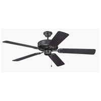 Craftmade Pro Builder 52-inch Ceiling Fan Motor Only in Flat Black C52FB