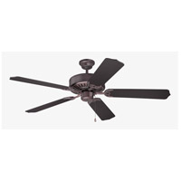 Craftmade K11075 Pro Builder 52 inch Oiled Bronze with Walnut Blades Ceiling Fan With Blades Included in Contractor Plus Walnut