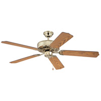 Craftmade K10040 Pro Builder 52 inch Polished Brass with Rosewood Blades Ceiling Fan With Blades Included in Contractor Rosewood