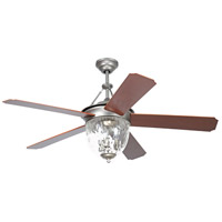Cavalier 52 inch Pewter with Walnut Blades Ceiling Fan with Blades Included