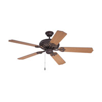 Craftmade K11210 Cecilia 52 inch Aged Bronze Textured with Teak Blades Ceiling Fan in Contractor Standard