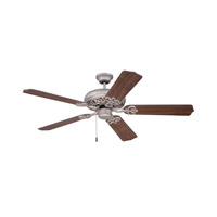 Cecilia 52 inch Athenian Obol with Dark Oak Blades Ceiling Fan Kit in Contractor Standard, Blades Included