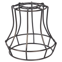 Design-A-Fixture Aged Bronze 6 inch Mini Pendant Cage in Aged Bronze Brushed