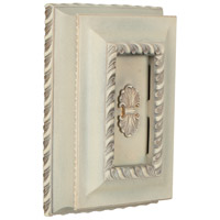 Craftmade Teiber Door Chime in Antique White Distressed with Elegantly Hand-Carved Features CH1201-AWD