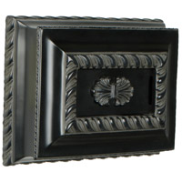 Craftmade Teiber Door Chime in Black Semi-Gloss with Elegantly Hand-Carved Features CH1201-BK