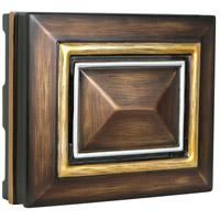 Craftmade CH1202-DO Signature Dark Oak with Gold and Silver Chime, Rectangle