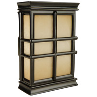 Craftmade Teiber Door Chime in Black Semi-Gloss with Hand-Carved Window Pane Cabinet with Tea-Stained Glass CH1505-BK