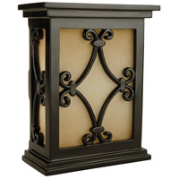 Craftmade Teiber Door Chime in Black Semi-Gloss with Hand-Carved Scroll Design Cabinet with Tea-Stained Glass CH1515-BK