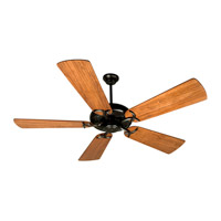 Craftmade K10370 Civic 52 inch Oiled Bronze with Hand-Scraped Cherry Blades Ceiling Fan With Blades Included in Solid Wood Blades, Premier, 0, Light Kit Sold Separately