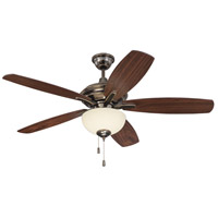 Craftmade CN52LB5 Copeland 52 inch Legacy Brass with Walnut Blades Ceiling Fan in Amber Frost Glass, Blades Included