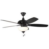 Craftmade CN52OBG5-WG Copeland 52 inch Oiled Bronze Gilded with Reversible Walnut and Oiled Bronze Blades Ceiling Fan in White Frosted Glass, Blades Included
