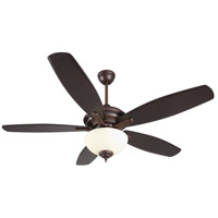 Craftmade CN52OBG5 Copeland 52 inch Oiled Bronze Gilded with Reversible Walnut and Oiled Bronze Blades Ceiling Fan in Amber Frost Glass, Blades Included