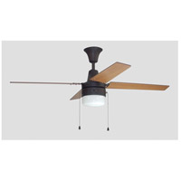 Craftmade CON48ABZ4C1 Connery 48 inch Aged Bronze Brushed with Reversible Golden Maple and Mahogany Blades Ceiling Fan Blades Included