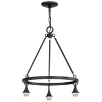 Design-a-fixture Matte Black Down Chandelier Hardware, Shades Not Included