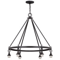 Jeremiah by Craftmade Design-A-Fixture 6 Light Chandelier Hardware in Matte Black CP6CH-MBK