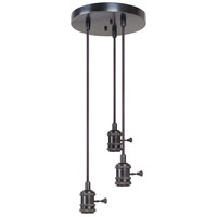 Craftmade CPMKB-3ABZ Design-a-fixture Aged Bronze Brushed Mini Pendant Hardware in 3