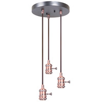 Craftmade CPMKB-3BCP Design-a-fixture Brushed Copper Mini Pendant Hardware in 3