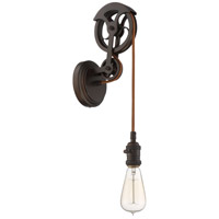 Design-A-Fixture Aged Bronze Brushed Pulley Wall Sconce Hardware, Shades Not Included