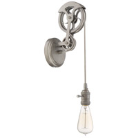 Design A Fixture 1 Light 5 inch Aged Galvanized Pulley Wall Sconce Wall Light, Shades Not Included