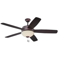 Layton 52 inch Oiled Bronze Indoor Ceiling Fan in Amber Frost Glass