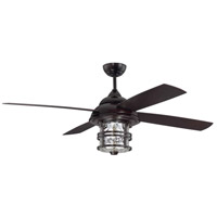 Courtyard 56 inch Oiled Bronze Outdoor Ceiling Fan, Blades Included