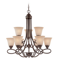 Craftmade 25029-OLB Cordova 9 Light 29 inch Old Bronze Chandelier Ceiling Light in Painted Alabaster alternative photo thumbnail
