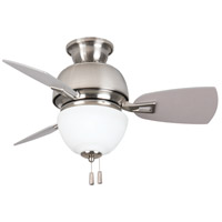 Craftmade DA30BNK3 Dane 30 inch Brushed Polished Nickel with Reversible Brushed Nickel Blades Ceiling Fan, Blades Included