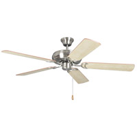 Craftmade DCF52BNK5 Decorators Choice 52 inch Brushed Polished Nickel with Reversible Ash and Mahogany Blades Ceiling Fan