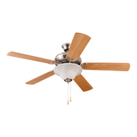 Craftmade DCF52BNK5C1 Decorators Choice 52 inch Brushed Polished Nickel with Reversible Light Maple and Light Mahogany Blades Ceiling Fan Blades