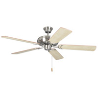Craftmade DCF52BNK5 Decorators Choice 52 inch Brushed Polished Nickel with Reversible Ash and Mahogany Blades Ceiling Fan in 0, Brushed Nickel, Light Kit Sold Separately, Blades Included