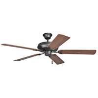 Craftmade DCF52FBZ5 Decorators Choice 52 inch French Bronze with Reversible Dark Oak and Mahogany Blades Ceiling Fan