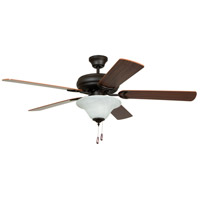 Craftmade DCF52FBZ5C1 Decorators Choice 52 inch French Bronze with Reversible Dark Oak and Mahogany Blades Ceiling Fan