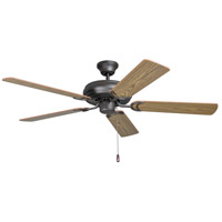 Decorators Choice 52 inch French Bronze with Dark Oak and Mahogany Blades Indoor Ceiling Fan in 0, Light Kit Sold Separately