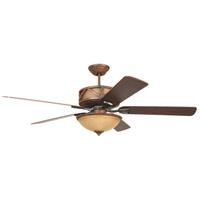 Craftmade DL60DMI5CRW Deer Lodge 60 inch Dark Mahogany and Iron with Reversible Mahogany and Pine Blades Ceiling Fan in Tea-Stained Glass, Blades Included alternative photo thumbnail