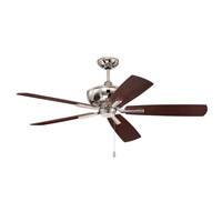 Ellington by Craftmade Dunbar 52-inch Ceiling Fan in Polished Nickel with Dark Walnut Blades DUN52PLN5