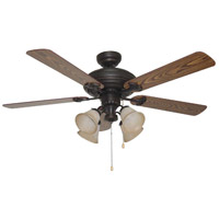 Ellington by Craftmade Beaufort 4 Light 52-in Indoor Ceiling Fan in Aged Bronze E-BFT52ABZ5C