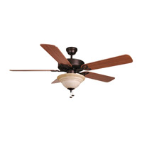 Ellington by Craftmade Builder Deluxe 2 Light Ceiling Fan With Blades Included in Aged Bronze BLD52ABZ5C1