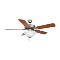 Ellington by Craftmade Builder Deluxe 2 Light 52-in Indoor Ceiling Fan in Antique Nickel E-BLD52AN5C1