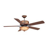 Craftmade DL60DMI5CRW Deer Lodge 60 inch Dark Mahogany and Iron with Mahogany and Pine Blades Indoor Ceiling Fan in Tea-Stained Glass