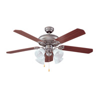 Ellington by Craftmade Manor 4 Light 52-in Indoor Ceiling Fan in Antique Nickel E-MAN52AN5C4