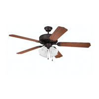 Ellington by Craftmade Pro 203 4 Light 52-inch Ceiling Fan (Blades Sold Separately) in Aged Bronze Brushed E203ABZ