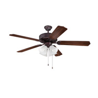 Ellington by Craftmade Pro 203 4 Light 52-inch Ceiling Fan (Blades Sold Separately) in Oiled Bronze E203OB