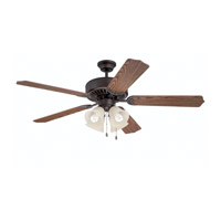 Ellington by Craftmade Pro 204 4 Light 52-inch Ceiling Fan (Blades Sold Separately) in Aged Bronze Brushed E204ABZ